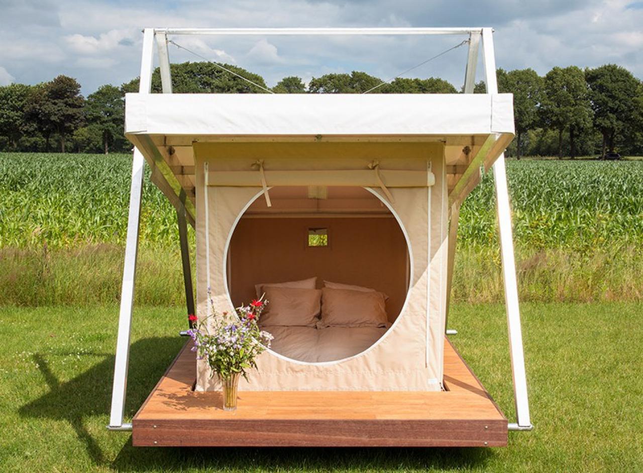 Tent huren mediteren en kamperen - Kleine tuin zen buiten ...